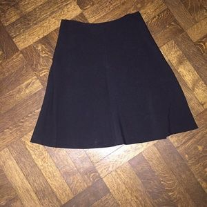 Theory Black Skirt with Side Zipper